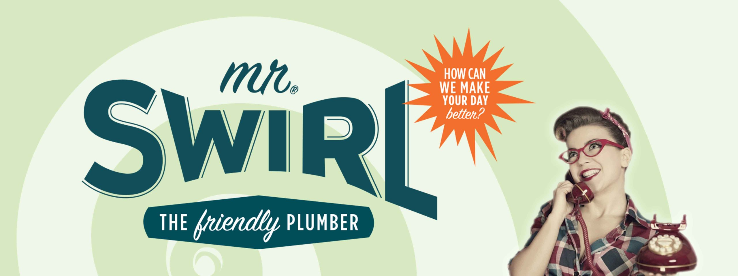 Mr Swirl logo - how can we make your day better?